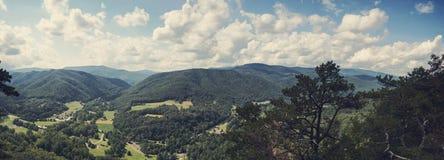 Vista panoramica da Seneca Rocks, Virginia Occidentale Immagini Stock Libere da Diritti