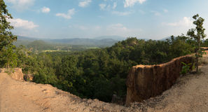 Vista panoramica dal grande canyon Immagine Stock
