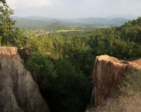 Vista panoramica dal grande canyon Fotografia Stock