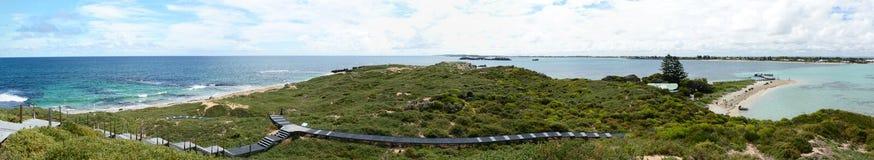 Vista panoramica dall'allerta dell'isola del pinguino Parco marino delle isole di Shoalwater Rockingham Australia occidentale Immagini Stock