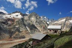 Vista panoramica dalla capanna di Lauteraar Immagine Stock