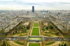 Vista panoramica dalla torre Eiffel Fotografia Stock Libera da Diritti