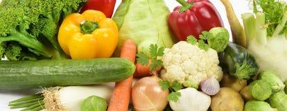 Vista panoramica dei frutti della verdura fresca Fotografie Stock