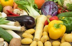 Vista panoramica dei frutti della verdura fresca Fotografia Stock