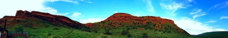 Vista panoramica del canyon rosso Fotografia Stock Libera da Diritti
