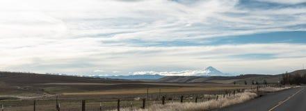 Vista panoramica del cappuccio del supporto, Oregon fotografia stock