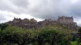 Vista panoramica del castello di Edimburgo immagini stock