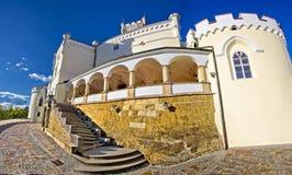 Vista panoramica del castello monumentale di Trakoscan Fotografia Stock