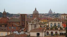Vista panoramica del centro storico di Roma video d archivio