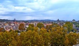 Vista panoramica del centro storico di Roma fotografie stock libere da diritti