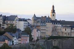 Vista panoramica del centro urbano del Lussemburgo Immagine Stock