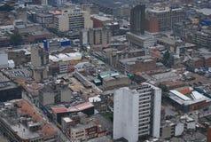 Vista panoramica del centro urbano di Bogota Fotografia Stock Libera da Diritti