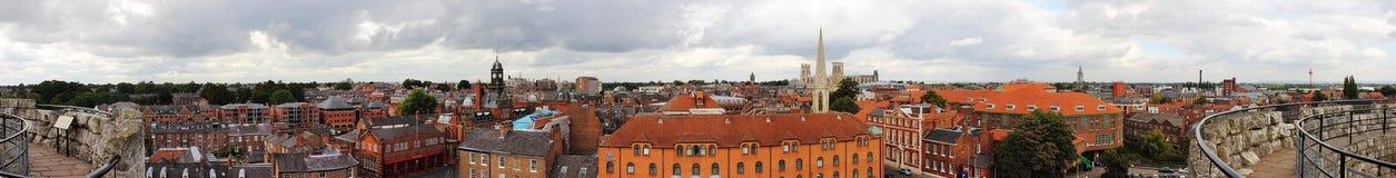Vista panoramica del centro urbano di York Fotografia Stock Libera da Diritti