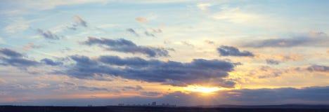 Vista panoramica del cielo della nube Immagine Stock