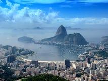 Vista panoramica del citycsape di Rio de Janeiro fotografie stock libere da diritti