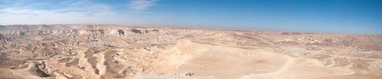 Vista panoramica del deserto di Negev Fotografia Stock Libera da Diritti