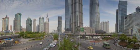 Vista panoramica del distretto di Pudong Immagine Stock
