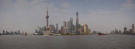 Vista panoramica del distretto di Pudong Fotografia Stock