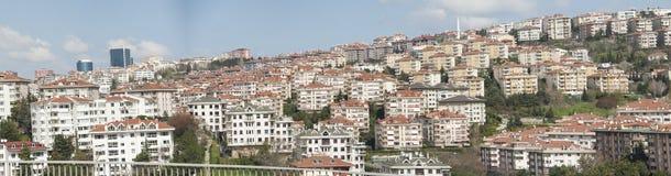 Vista panoramica del distretto urbano dell'alloggio Immagini Stock