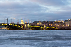 Vista panoramica del fiume di Neva immagine stock libera da diritti