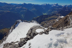 Vista panoramica del ghiacciaio di Glarnisch, alpi svizzere, Svizzera Fotografia Stock