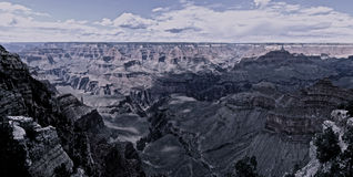 Vista panoramica del grande canyon Fotografie Stock Libere da Diritti