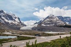 Vista panoramica del Icefield Parway Fotografie Stock Libere da Diritti