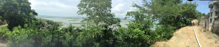 Vista panoramica del lago Guajaro Fotografia Stock