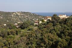 Vista panoramica del Mar Mediterraneo Immagini Stock Libere da Diritti