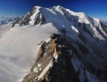Vista panoramica del massiccio di Mont Blanc Immagine Stock Libera da Diritti