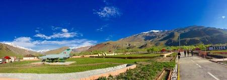 Vista panoramica del memoriale di guerra di Kargil fotografia stock