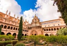 Vista panoramica del monastero di Guadalupe in Estremadura fotografia stock