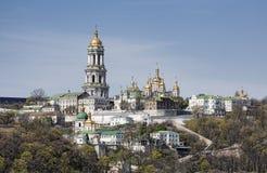 Vista panoramica del monastero di Kiev Pechersk Lavra   Fotografia Stock