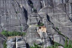 Vista panoramica del monastero di Meteora, Grecia Fotografie Stock