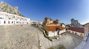 Vista panoramica del monastero di Treskavec in Prilep, Macedonia fotografie stock libere da diritti