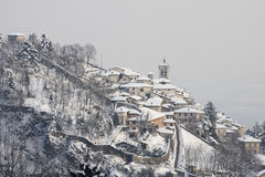 Vista panoramica del monte di sacro, Varese Fotografia Stock