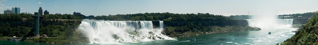 Vista panoramica del Niagara Falls Fotografie Stock Libere da Diritti