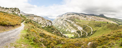 Vista panoramica del paesaggio della montagna Immagini Stock