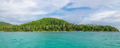 Vista panoramica del paradiso nascosto fotografia stock