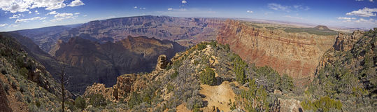 Vista panoramica del parco nazionale di Grand Canyon in Arizona, U.S.A. Fotografia Stock Libera da Diritti