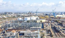 Vista panoramica del porto di San Diego Immagini Stock