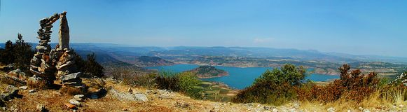Vista panoramica del Salagou Fotografie Stock Libere da Diritti