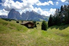 Vista panoramica del Seiser Alm Fotografia Stock