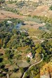 Vista panoramica del Serrania provincia di Ronda, Malaga, Andalusia, Spagna fotografia stock