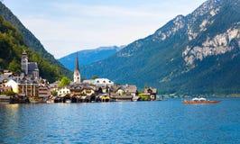 Vista panoramica del villaggio di Hallstatt Immagine Stock