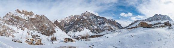 Vista panoramica del villaggio di Nerak Pulu Fotografie Stock Libere da Diritti