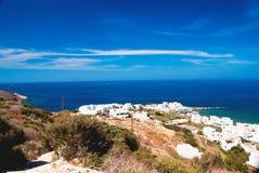 Vista panoramica del villaggio tradizionale sull'isola di Naxos Fotografia Stock Libera da Diritti