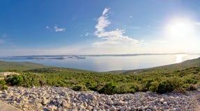 Vista panoramica dell'arcipelago delle isole di Kornati Immagini Stock Libere da Diritti