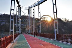 Vista panoramica dell'arco del monumento di diversità fotografie stock libere da diritti
