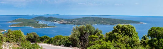 Vista panoramica dell'isola di Ilovik Fotografia Stock